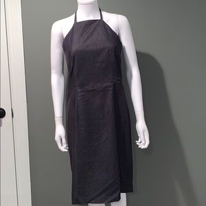 INC WOMANS halter fitted jean dress SZ.8